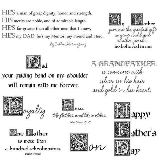 Salefathers Day Quotes Father Word Art Inspirational Etsy