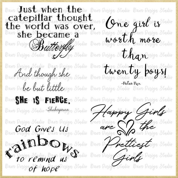 Girl Quotes Inspirational Quotes About Girls Little Girl Etsy