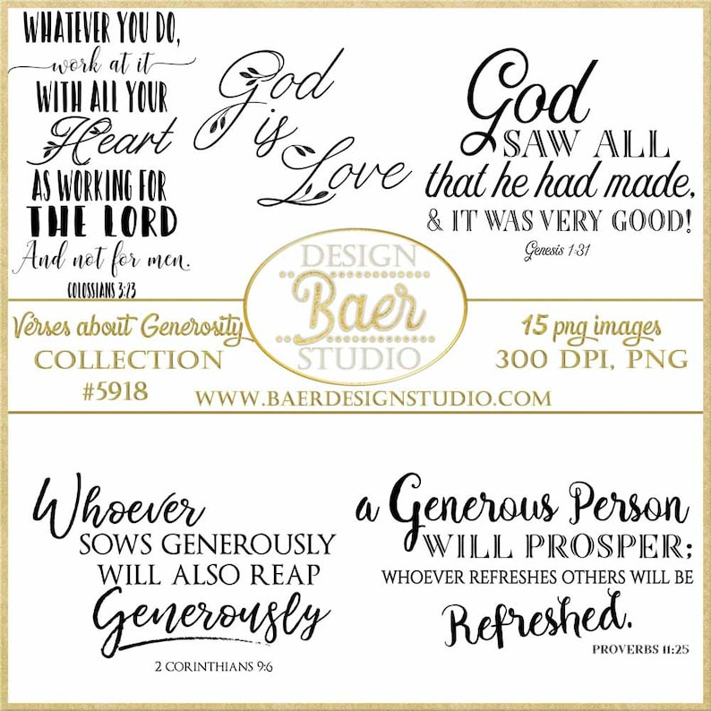 Generosity Quotes | Bible Verses About Generosity Quotes About God S Etsy