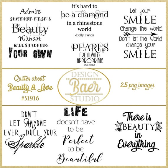 Word Art Clipart Beauty Quotes Pineapple Quote Love Quotes Etsy