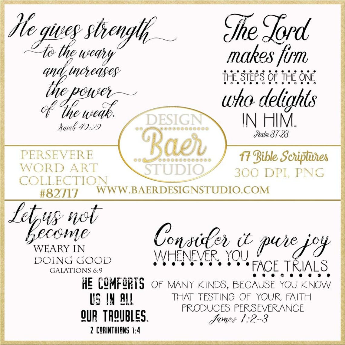 Persevere Bible Versesquotes About Perseverance Facing Etsy