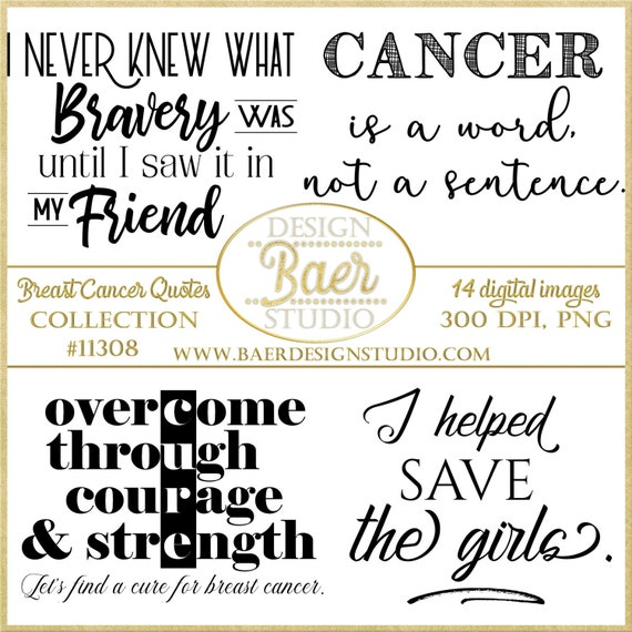 Breast Cancer Quotes Cancer Quotes Quotes About Strength Etsy Gorgeous Breast Cancer Quotes