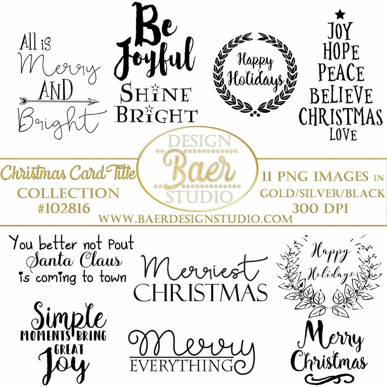 Sale Christmas Quoteschristmas Word Art Christmas Scrapbook Etsy