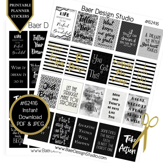 Printable Planner Sticker Digital Quotes Planner Quote Etsy