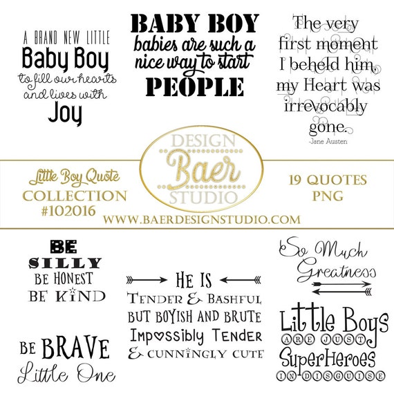 Little Boy Quotes Adorable Quotes About Boys Baby Boy Quotes Photo Overlays Little Boy Etsy