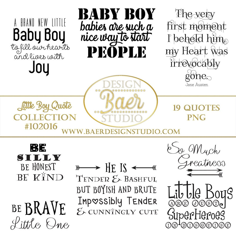 Quotes About Boys Baby Boy Quotes Photo Overlays Little Boy Etsy