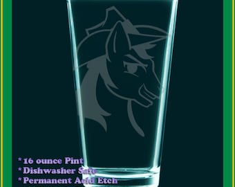 Braeburn MLP:FiM pint glass - drinking glass - cider glass - Fan Art - My Little Pony BraeBurn YEEHAW