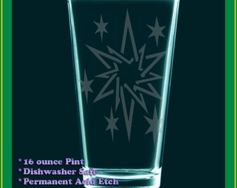 TWILIGHT SPARKLE cutie mark pint glass - drinking glass - cider glass - My Little Pony Twilight Twilie TSparks