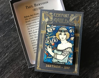 Art Nouveau Enamel Pin - Paul Berthon Salon de Cent