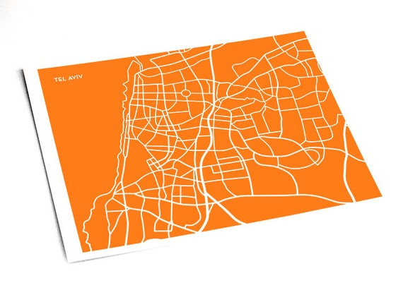 Vegan Capital Tel Aviv Illustration Art High quality Digital Print