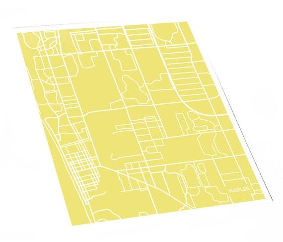 Naples Florida Map.Naples Fl City Map Art Print Florida Map City Print 8x10 Etsy