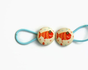 Cute Fish Pony Tail Holder Hair Elastic Hair Tie - Set of 2 - Ideal Gift