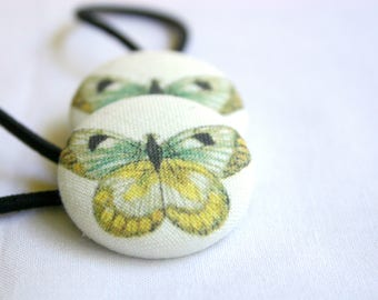 Modern Rustic Butterfly Pony Tail Holder Hair Elastic Hair Tie - Set of 2 - Ideal Gift