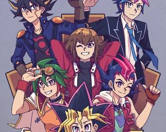 Let's Duel! Yugioh Poster Print