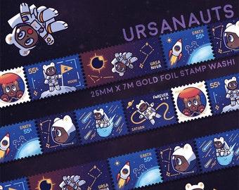 Ursanauts Gold Foil Stamp Washi Tape