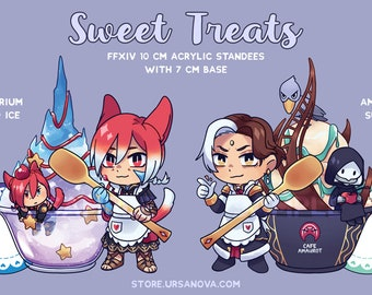 FFXIV Sweet Treats Acrylic Standees