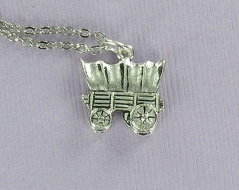 Wagon Woman Gift Spoon Necklace Covered Wagon Necklace Covered Wagon Charm Spoon Jewelry Wife Gift Covered Wagon Pendant