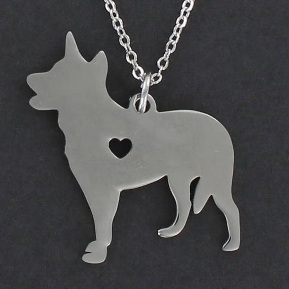 Tiny Heart Cutout Stainless Charm on a FREE Plated Chain CAT Silhouette Necklace