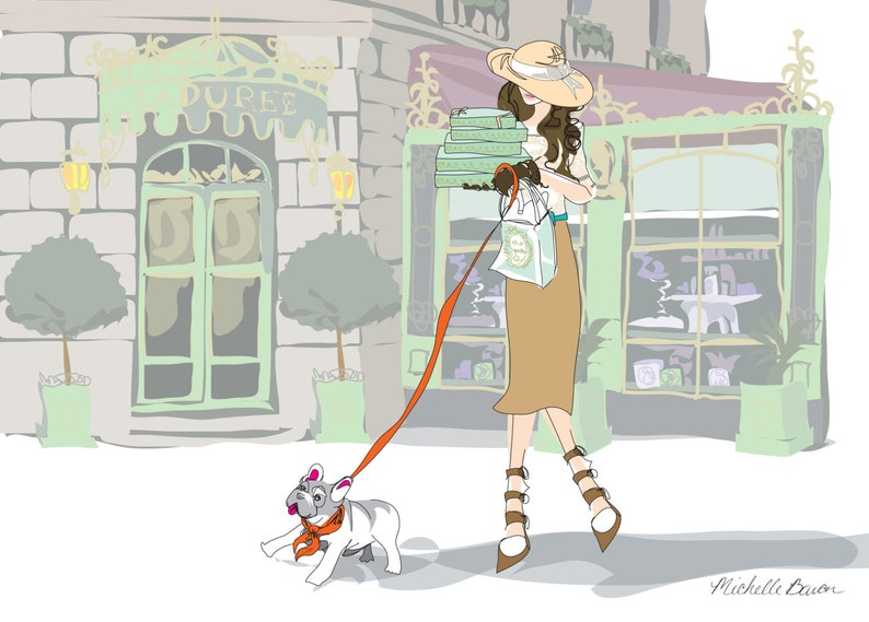 Fashion Illustration Paris Parisian Laduree Landscape image 0