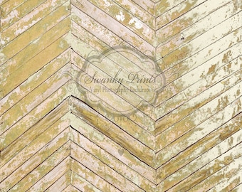 2ft x 2ft VINYL Photography Backdrop / Mustard Peeling Wood