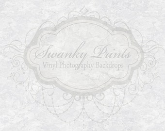 3ft x 2ft Photography Backdrop / White Marble Texture / PRODUCT