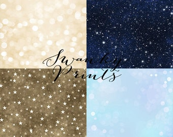 """SAMPLE PACK / FOUR 12"""" x 12"""" Mix and Match Vinyl Photography Backdrops for Product Photos"""