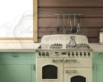NEW ITEM 4ft x 5ft Vinyl Photography Backdrop / Retro Kitchen