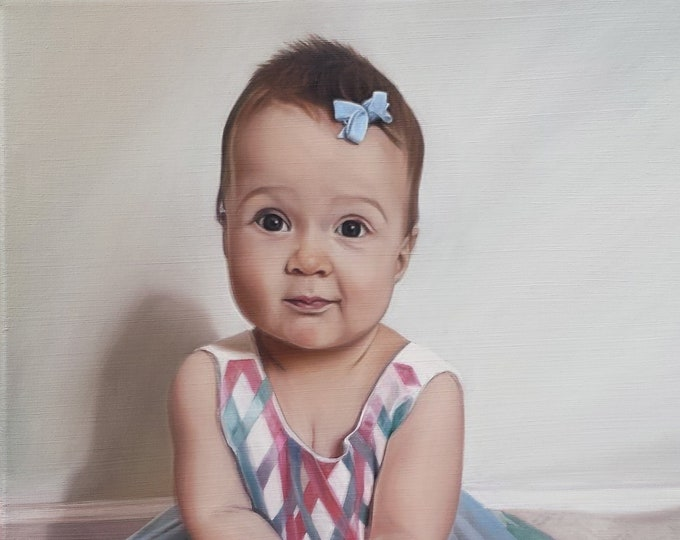 CUSTOM PORTRAIT - Custom Painting - Photo to Painting - Oil Painting - Baby Portrait