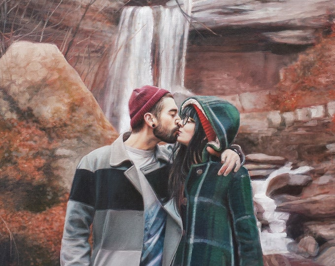 CUSTOM PORTRAIT - Custom Painting -Oil Painting- Gift for Boyfriend or Girlfriend - Anniversary Gift