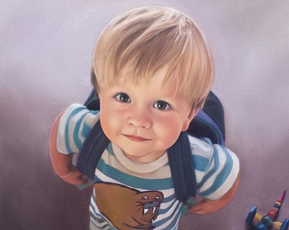 CUSTOM PORTRAIT - Custom Oil Painting - Perfect Gift - Family Portrait - Toddler Portrait