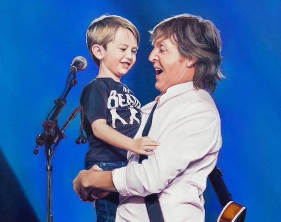 CUSTOM PORTRAIT - Oil Painting - PORTRAIT for Family - Custom Painting - Paul McCartney - Beatles