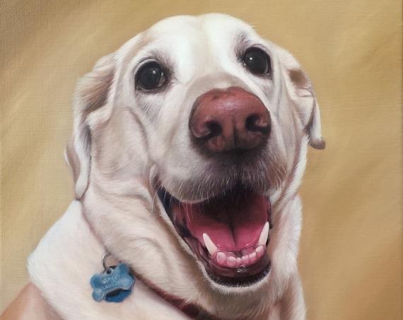 CUSTOM PET PORTRAIT - Oil Painting - Dog Portrait - Pet Painting - Painted Portrait - Unique Gift