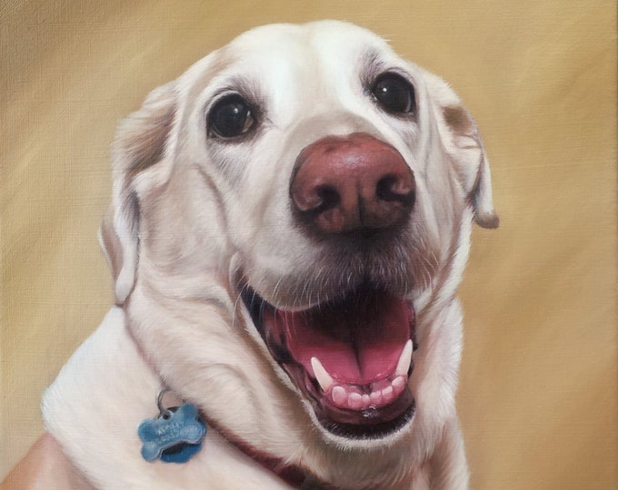 CUSTOM PET PORTRAIT - Oil Painting - Dog Portrait - Pet Painting - Painted Portrait - Unique Gift
