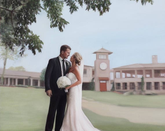 Personalized Wedding Gift - Custom Portrait Painting - Anniversary Gift - Oil Painting - Wedding Portrait