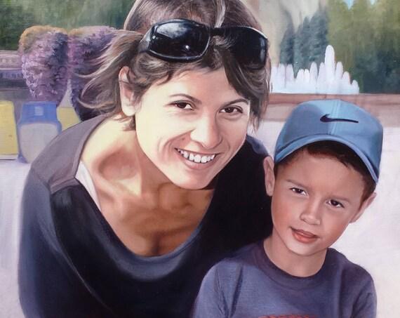 CUSTOM PORTRAIT - Custom Painting of Children - Family Portrait