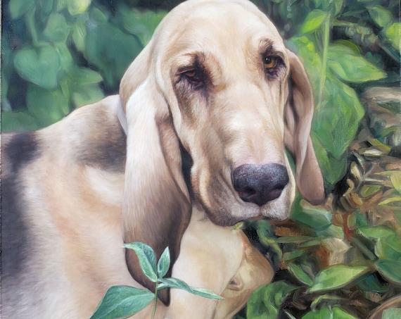 Custom Pet Portrait - Oil Painting -  Dog portrait - Dog Painting - Custom Pet Art