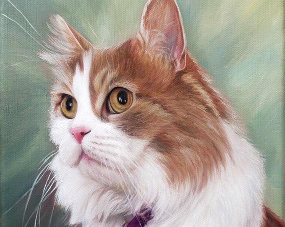 Custom Pet Portrait - Cat Portrait - Cat Painting - Oil Painting - Custom Painting - Custom Cat Art