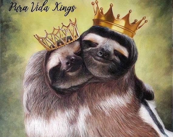 Custom Portrait - Animal Painting - Animal Portrait - Custom Wildlife Art - Oil Painting - Sloth Painting - Commissioned Art - Sloths