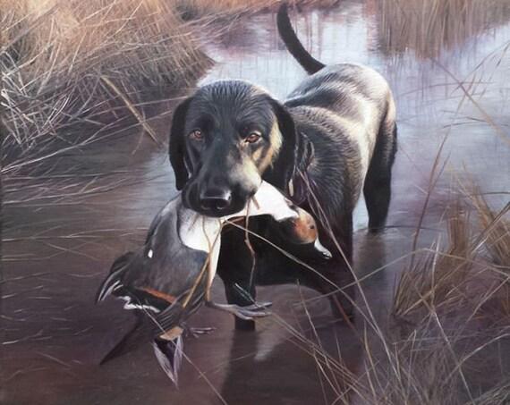 Custom Pet Portrait - Pet Painting - Oil Painting - Dog Portrait - German Shorthaired Pointer - Bird Dog - Hunting Dog