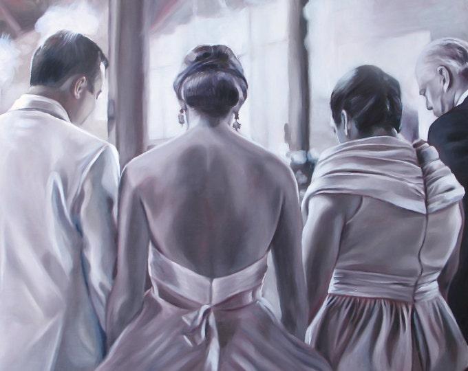 CUSTOM PORTRAIT - Oil Painting - Family Portrait - Custom Painting - Anniversary Gift