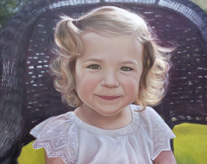 CUSTOM PORTRAIT - Custom Painting - Daughter - Oil Portrait - Unique Gift