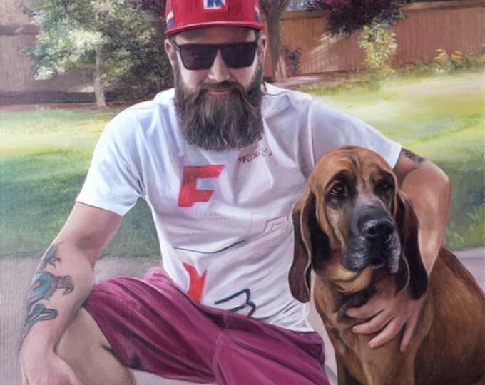 Custom Portrait - Custom Pet Painting - Oil Painting - Custom Painting for Photo - Pet Portrait