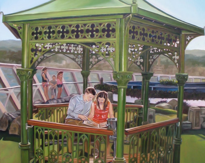 CUSTOM PORTRAIT - Oil Painting - Custom Painting - Anniversary Gift - Wedding Gift