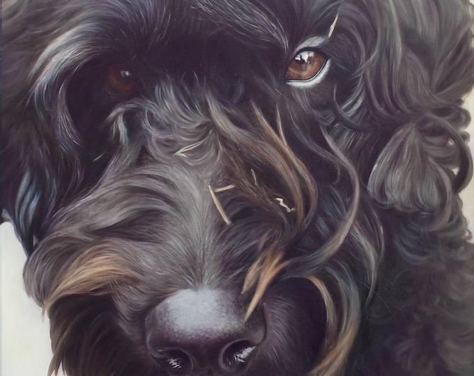 Pet Portrait - Oil Painting - Pet Painting - DOG PORTRAIT - Custom Portrait - Labradoodle Painting - Unique Gift