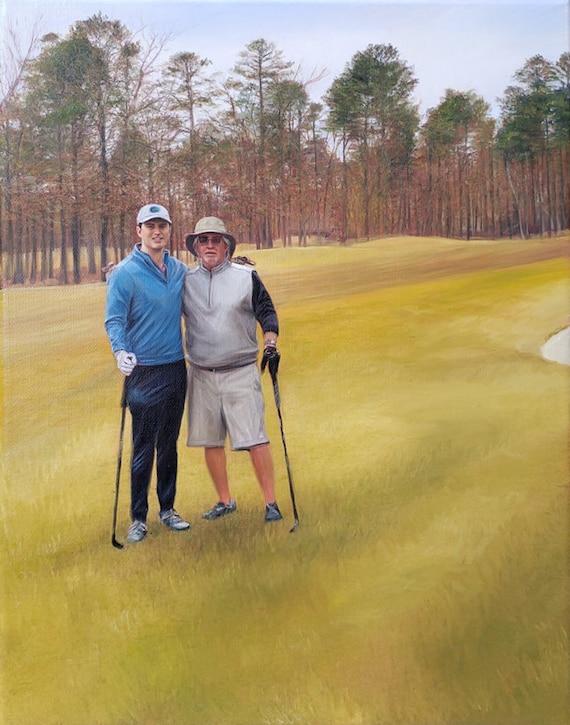 Custom Painting - Oil Painting - Golf Themed - Landscape Art - Golf Painting