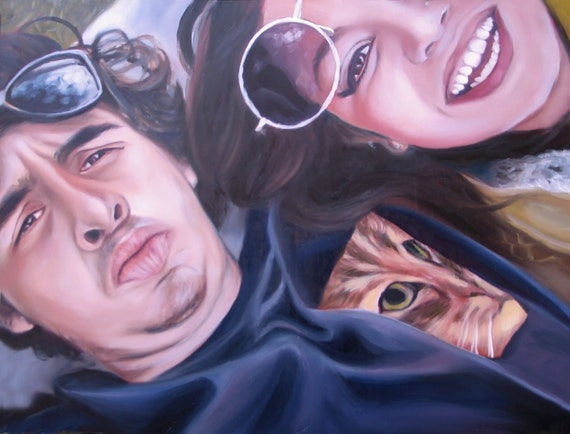 CUSTOM PORTRAIT - Custom Painting - Oil Painting - Photo to Painting - Gift for Boyfriend or Girlfriend - Anniversary Gift