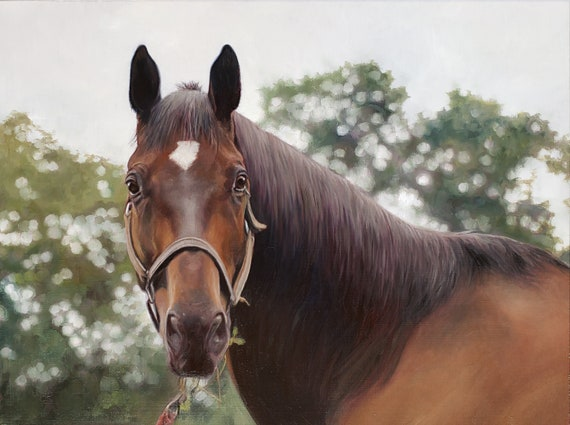 Custom Horse Painting - Horse Portrait - Oil Painting - Custom Portrait of Horse - Unique Gift