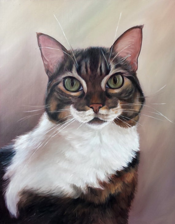 Custom Pet Portrait - Cat Painting - Perfect gift