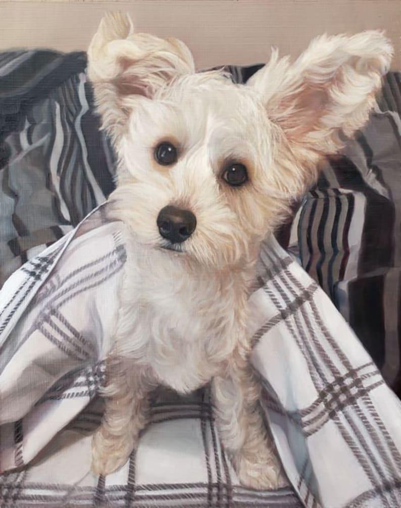 Custom Dog Painting Oil Painting Pet Painting Commissioned Art Dog Art Custom Pet Portrait Oil on Canvas Pet Art