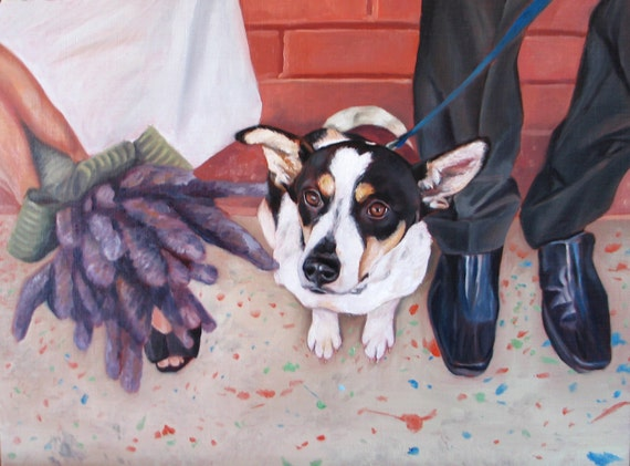 CUSTOM PET PORTRAIT - Oil Painting - Anniversary Gift